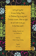Hijinks Yellow Christmas Invitations