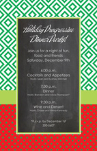 Merry Diamond Chalkboard Invitations