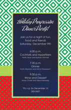 Merry Diamond Navy Invitations