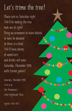 Family Decorated Christmas Tree Invitations