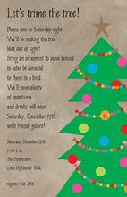 Simple Christmas Tree Invitations