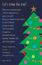 Your Way To Christmas Tree Invitations