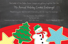 Chalkboard Cookies Christmas Invitations