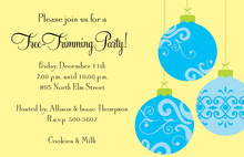 Traditional Ornaments Holiday Invitations