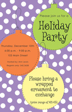Large Ornaments Polka Dot Invitations