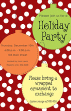 Bright Ornaments Holiday Invitations