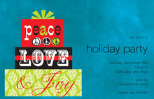 Peace Love Joy Gifts Invitation
