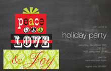 Peace Love Joy Holiday Invitations