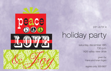 Simple Peace Love Joy Invitations