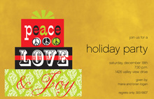 Modern Peace Love Joy Invitations