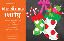 Stocking Filled Candy Holiday Invitations