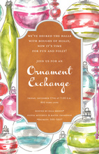 Bright Watercolor Ornaments Invitation