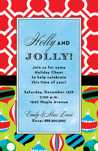 Retro Ornamental Holiday Invitations