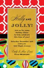 Patterns Ornament Christmas Invitations
