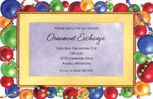 Glass Bauble Ornaments Invitation