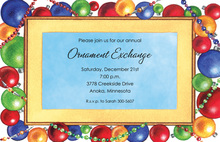Bright Bauble Ornaments Invitation
