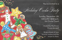 Cookie Sprinkles Christmas Invitations