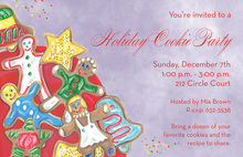 Cookies Gingerbread Holiday Invitations
