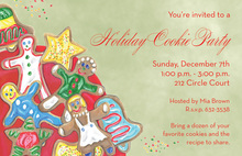 Cookies Holiday Party Invitations