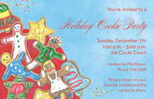 Cookies Theme Holiday Invitations