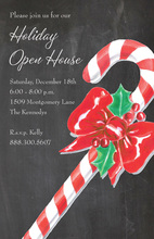 Candy Cane Chalkboard Invitations