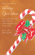 Traditional Christmas Candy Cane Invitations