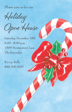 Sweet Candy Cane Christmas Invitations