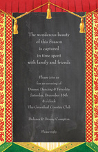 Curtain Panels Chalkboard Invitations
