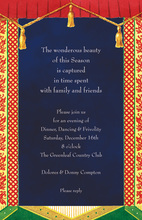 Modern Formal Curtain Invitations