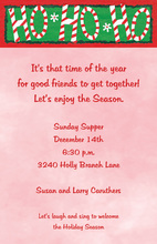 Classic Ho Ho Ho Christmas Invitations