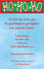 Celebrating Ho Ho Ho Christmas Invitation