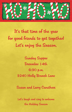 Say Ho Ho Ho Christmas Invitations