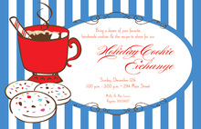Cookie Cocoa Drink Holiday Invitations