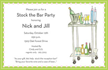 Special Cocktail Cart Invitations