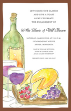 Wine Cheese Tasting Invitation