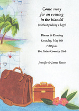 Travel Bag Destination Invitation