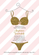 Lace Sexy Lingerie Shower Party Invitation