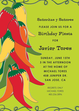 Stylish Chili Pepper Ristra Invitations
