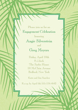 Serenety Palm Leaves Invitation