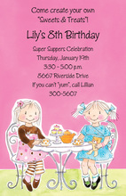 Little Girl Tea Party Invitation