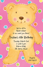Cute Teddy Bear Invitation