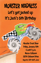 Giant Monster Truck Invitation