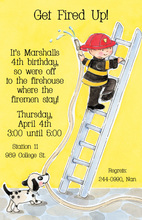 Little Firefighter Climbing Invitation