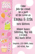 Pink Birthday Elements Invitation