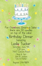 Sprinkled Confetti Cake Invitations