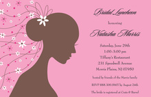 Romantique Bride Pink Shower Invitations