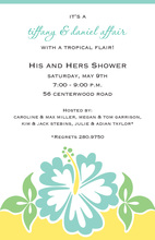 Abstract Bermuda Hibiscus Invitation