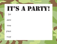 Camo Kids Fill-in Invitations