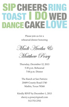 Sip And Dance I Do Wed Invitations