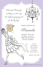 Vintage Bride Blonde Shower Invitations